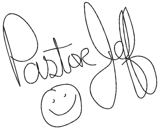 Pastor Jeff's Signature