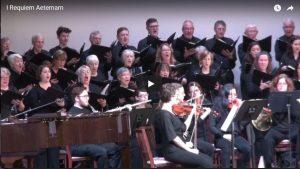 The Sanctus choir singing first segment of Requiem