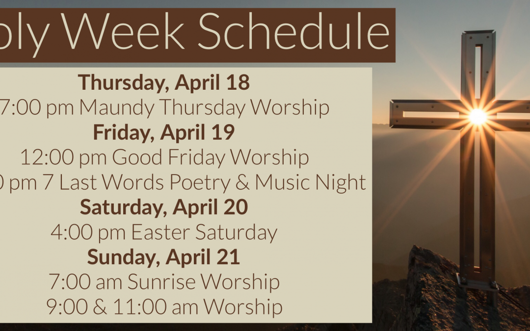 Holy Week is here!
